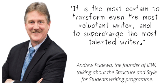 Andrew Pudewa - quote on Writing Excellence